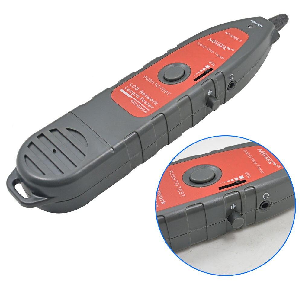 NOYAFA NF-8200 testeur de câble réseau LAN RJ45 RJ11 traqueur de fil téléphonique de téléphone diagnostiquer le traceur de tonalité avec LED LCD - 4