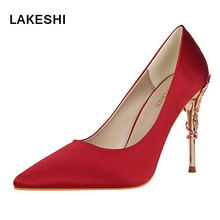LAKESHI Women Pumps Shoes Designer High Heels Shoes Women Summer Shoes Pointed Sexy Thin Heels Shoes