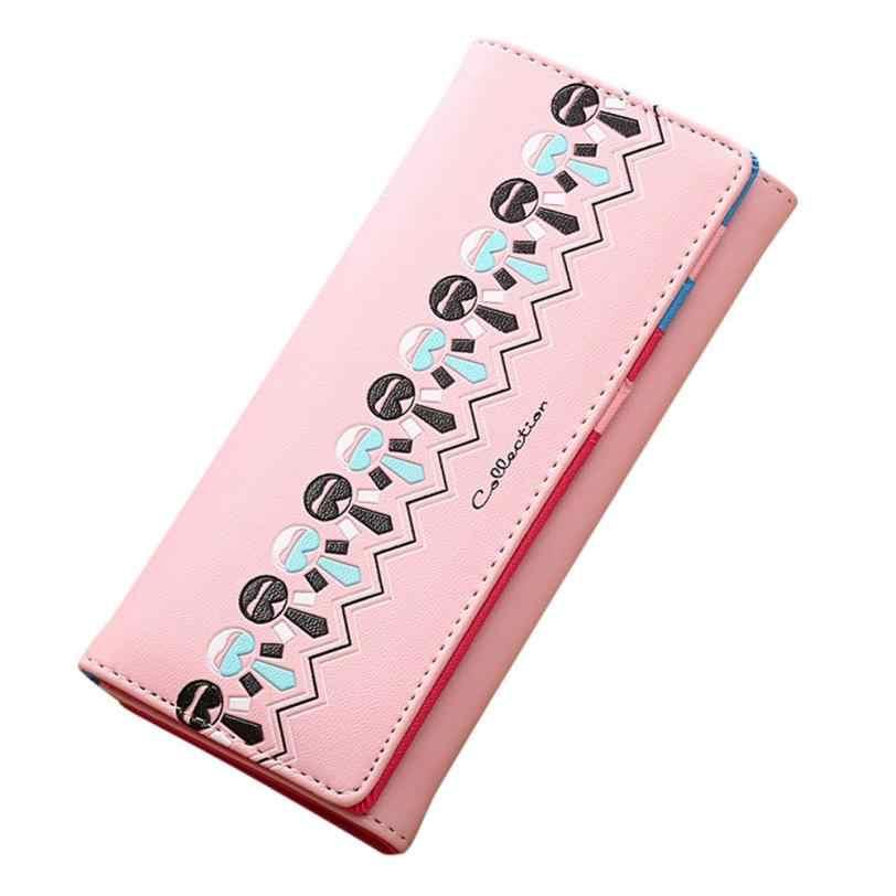 ad6fea5a2647 ... XINIU Для женщин принт Hasp портмоне Длинный кошелек Для женщин s кошельки  дешевые раза PU кожаные ...
