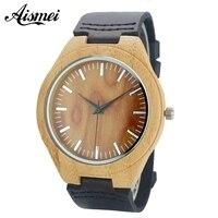 2017 Simple Wood Watches Men S Minimalist Deisgn WristWatch Original Wooden Bamboo Watch Male Sports Clock