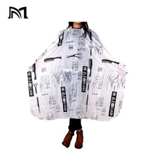 Pro Salon Pattern Hairdressing Cape Wrap Gown Apron Barber Hairdresser 100X140cm Hair Cutting Styling Tool peluqueria accesorio 24pc plastic long styling barber salon tool hairdressing spiral hair perm rod small pro