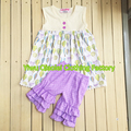 2017 Wholesale easter day cute outfits boutique baby girls cotton ruffle spring clothes kids remake outfit