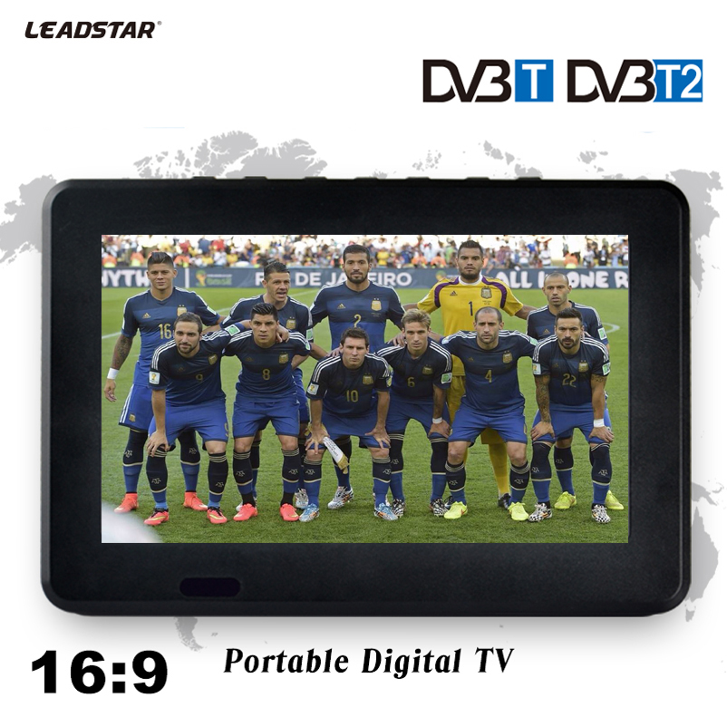 LEADSTAR 9inch HD Digital And Analog Television Receiver LED Television Car TV Support TF Card USB Audio Video Play DVB-T2 AC3