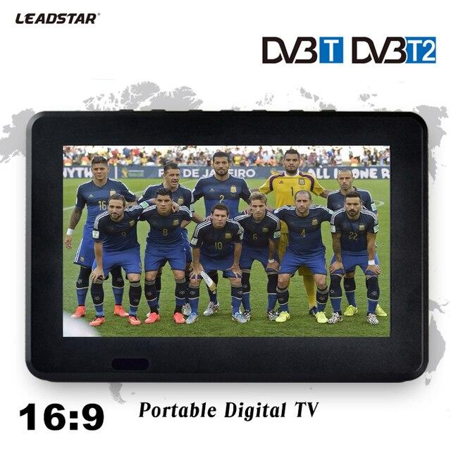 LEADSTAR 9 pouces HD récepteur de télévision numérique et analogique télévision LED voiture TV Support TF carte USB Audio vidéo jouer DVB-T2 AC3