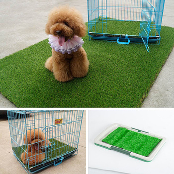 Pet Puppy Lawn Toilet Urinary Trainer Grass Mat Potty Pad House Litter Tray  Indoor Use Dog Litter Box Training Supplies