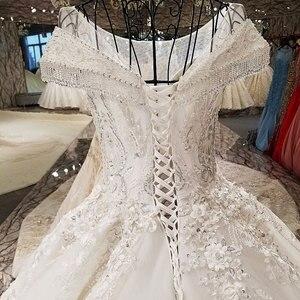 Image 3 - Aijingyu 2021高級クリスタルスパークリングダイヤモンド結婚新しいホット販売vネック正式な花嫁のドレスウェディングドレスWT173