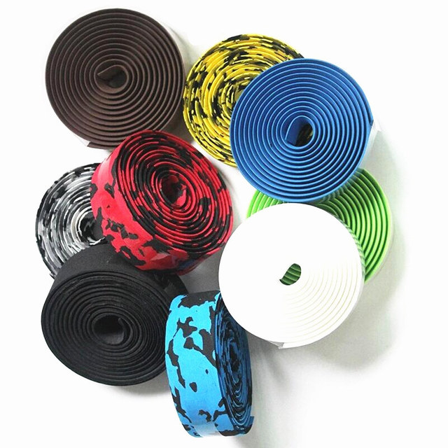 Bicycle handlebar tape belt bar non slip absorb sweat Colorful Cycling Handle Belt Bike Bicycle Cork Handlebar Tape Wrap HC0101 2