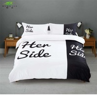 Romanee Brand Home Bedding Sets Queen King Size Double Bed Black White Bedspread 3pcs 4pcs Bed