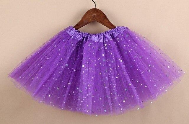 ca6b2acd7 € 5.46 |Falda tutú para bebé elegante más nuevo brillo estrella niñas tutú  3 capas tul negro tutú falda lentejuelas pettiskirt falda envío ...