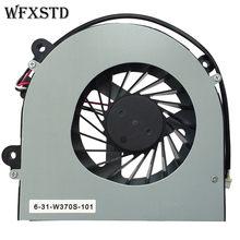 Novo original ventilador de refrigeração para clevo w150 w150er w350 w370et k590s k660e cpu ventilador de refrigeração AB7905HX-DE3 portátil refrigerador do radiador