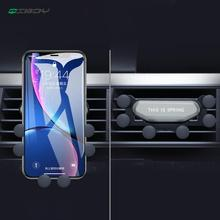 New Upgrade Universal Car Phone Holder For iPhone 8 Xiaomi Huawei Air Vent Mount Auto-Grip Gravity Mobile Stand