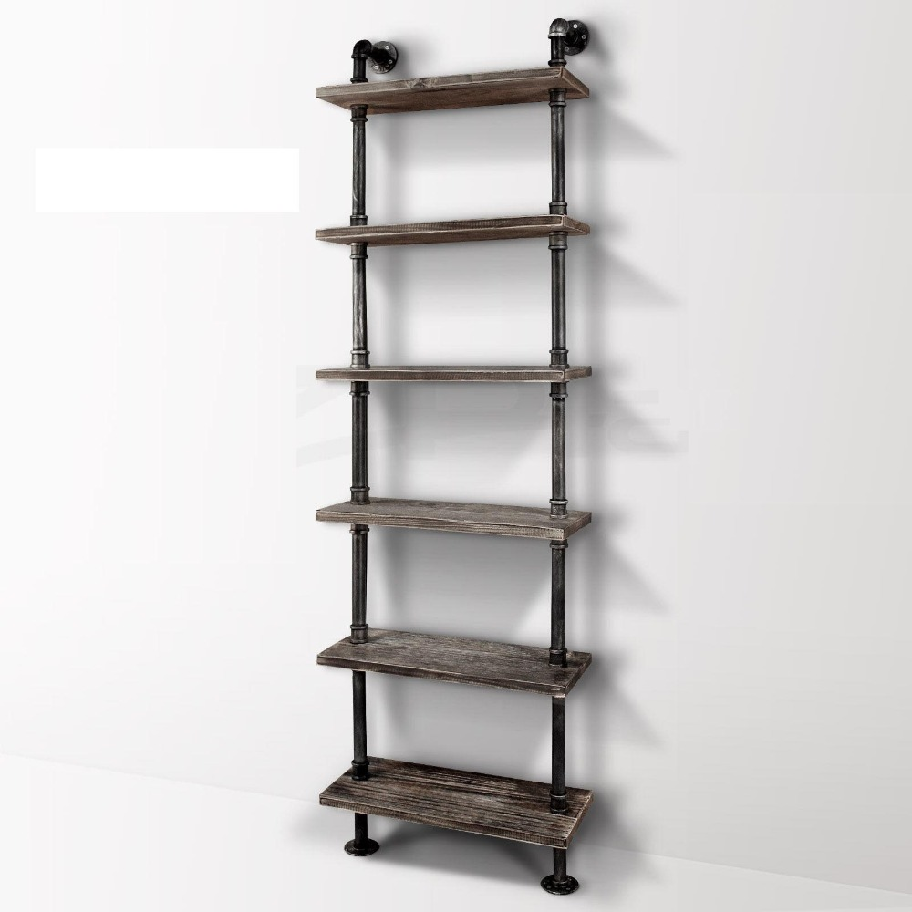 industrial pipe bookcase shelf standing book shelves storage multi  - industrial pipe bookcase shelf standing book shelves storage multi functionstorage bookshelf rack for home decoration in wind chimes  hangingdecorations