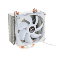 Original New 2017 SOPLAY for Intel AMD CPU Cooler LED light 120mm 4Pin 4 Heatpipes PC Computer Desktop PWM Sillence Cooling Fans