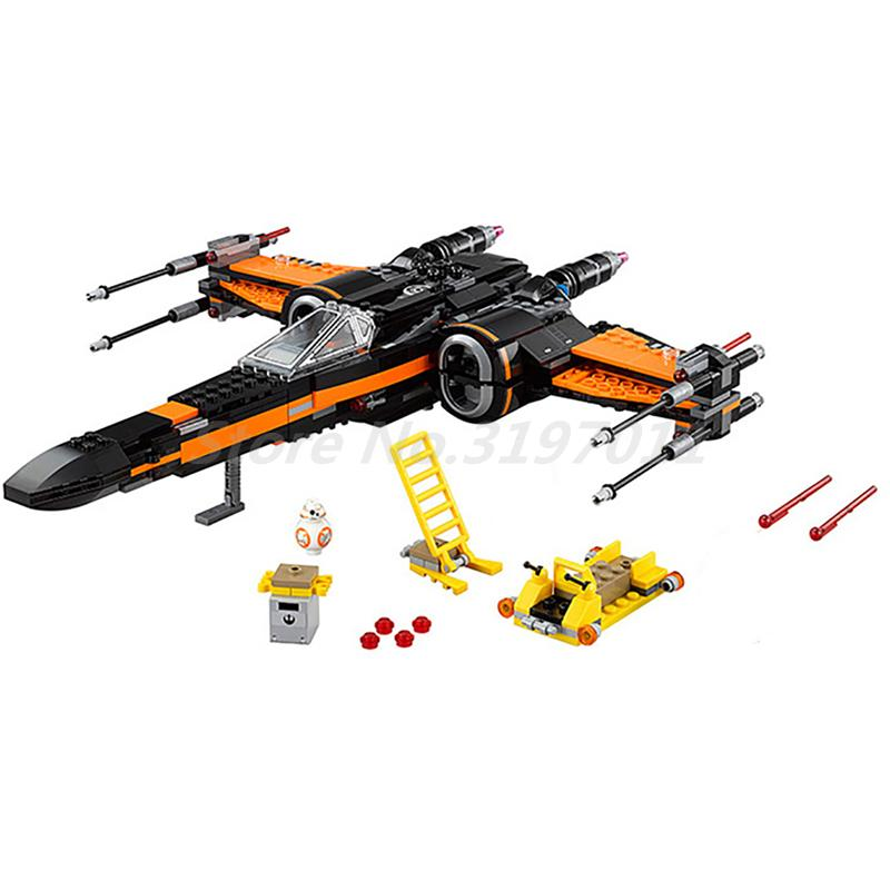 Lepin 05004 845pcs Star Wars First Order Poes X-wing Fighter Assembled 75102 Building Block Bricks Toys For Kids Gifts