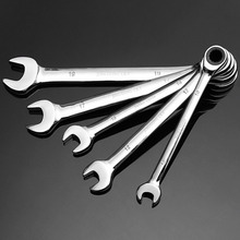 7mm Flexible Head Open End Wrench Keys With Ratchet Spanners Ring Mini Torque Adjustable Clank Ratchet Wrench Spanner Tool Set metric sae offset torque wrench set universal ratchet wrench spanner double end wrench offset ring spanner 7mm to 22mm