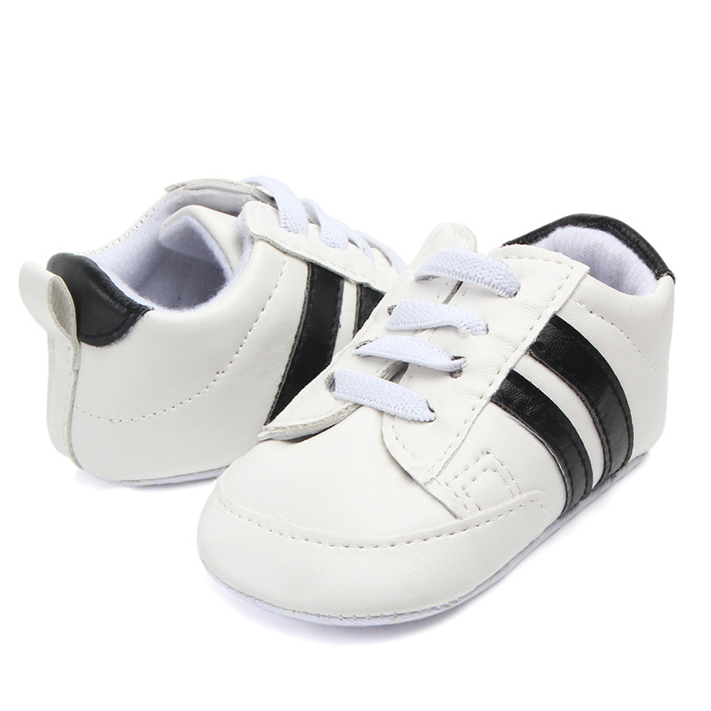 Newborn Elastic Shoes Us 3 35 44 Off Baby Boy Shoes Infants Shoes For Gilr Tenis Newborn Elastic Shoe Soft Sole Indoor Sneakers Pu Leather Moccasins Christening Gift In
