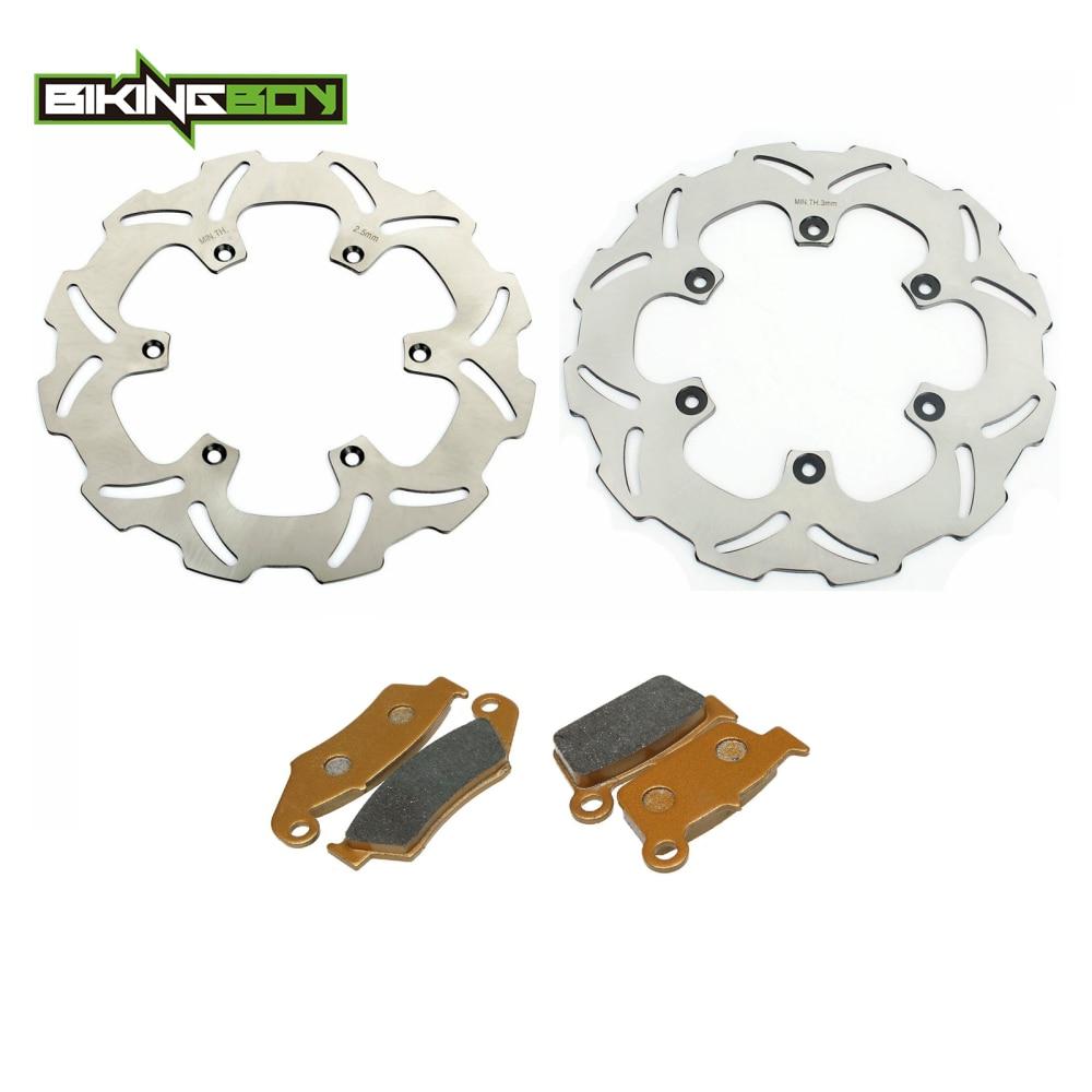 BIKINGBOY WR250F WR450F 03 11 10 09 08 07 YZ250F YZ 125 250 03 04 05 06 YZF WR F WRF Front Rear Brake Discs Rotors Disks Pads