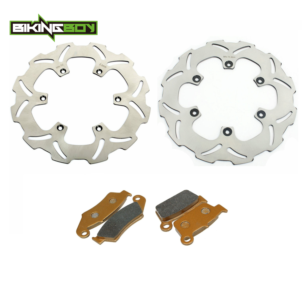 03-06 YZ250F Front and Rear Brake Pads and Sport Brake Rotors Yamaha WR250F