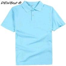 c49c75f17f Plus Size M-3XL Camisa Polo da Marca dos homens Novos de Alta Qualidade Dos  Homens do Algodão camisa de Manga Curta Marcas camis.