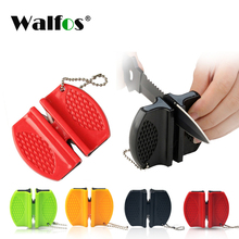 цена на WALFOS Portable Mini kitchen Knife Sharpener Kitchen Tools Accessories Creative Butterfly Type Two-stage Knife Sharpener