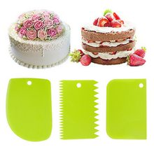 Hifuar DIY Cream Smooth Cake Spatula Baking Pastry Tools Dough Scraper Kitchen Butter Knife Dough Cutter Cake Decorating(China)