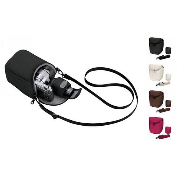 Housse pour appareil photo sac pour Sony LCS BBF NEX3C NEX5C NEX5N NEX F3 NEX7 rouge gris noir & blanc couleur livraison gratuite