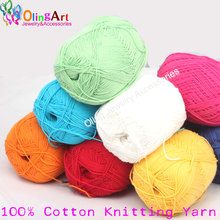 Line 100% Cotton Knitting Yarn 1roll/lot 50g Super Soft Best Quality Hand-knitted Yarn Ball Scarf Wool Yarny Baby free shipping стоимость