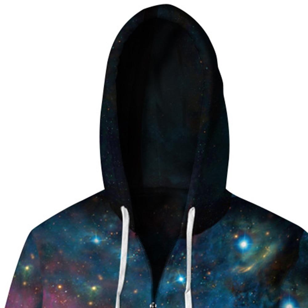 Полночь звездное небо Толстовка 3D Толстовка Для мужчин хип-хоп толстовки с капюшоном Повседневное пространство с принтом со звездой костюм...
