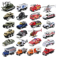 1 64 Slide Alloy Toys Car Model Diecast Military Police Firefighting Ambulance Airplane Sets Car Simulation