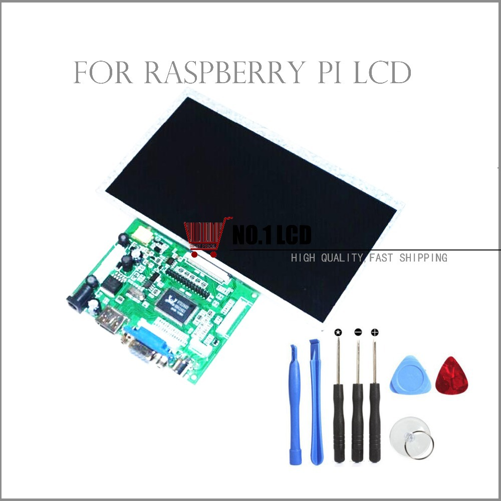 7 inch Raspberry Pi LCD With HDMI VGA AV Screen Display Module For Pcduino Banana Pi 800x480