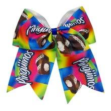 Adogirl 3 pcs 6-7 Rainbow Print Adult Kids Hair Bows Scunchie Handmade Girls Headband Accessories Cheap Hairpins