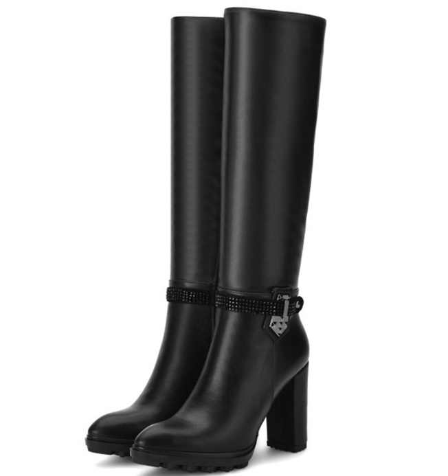Popular Black Leather Riding Boots-Buy Cheap Black Leather Riding ...