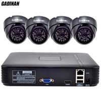 GADINAN 1080P NVR System Kit 4pcs 960P SC1135 0 001LUX ONVIF IP Camera HD Home Kit