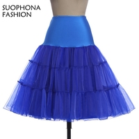 Fashion A Line Short Petticoat Colorful Short Underskirt Knee Length Bridal Tulle Petticoats For Wedding Dress
