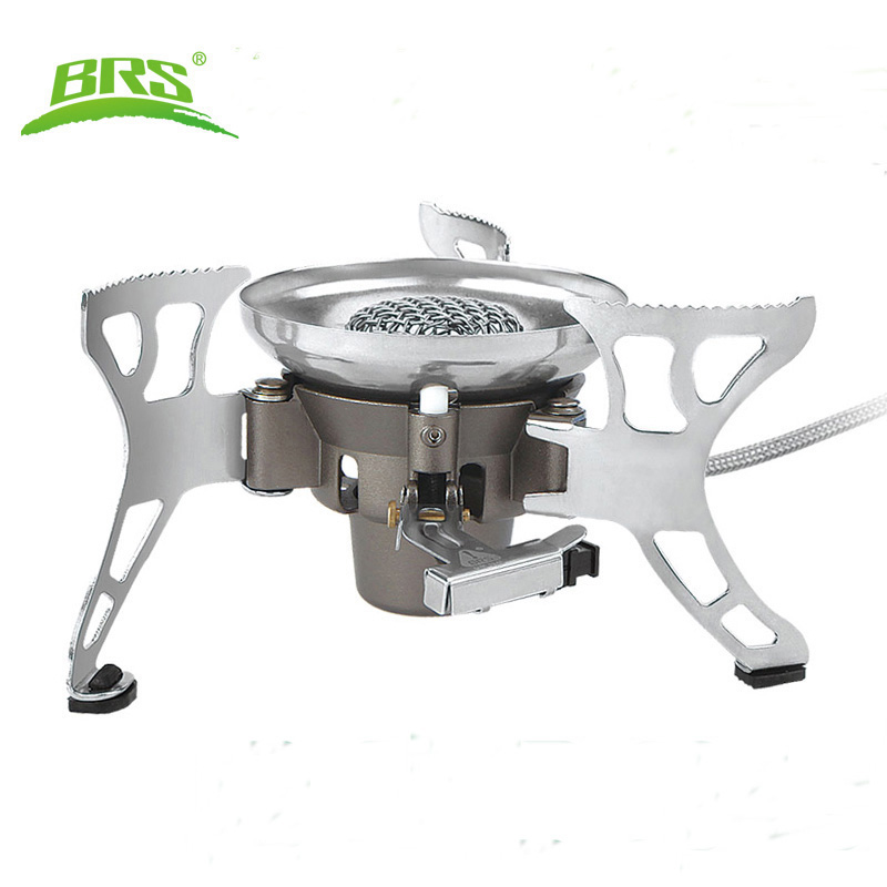 BRS-15 Portable Windproof Big Power Split-Type Outdoor Camping Picnic Cooker Gas Stove Auto ignition Infrared Heating Roasting brs stove outdoor kocher camping gas stove big power portable backpack windproof stove outdoor gas cooking travel burners