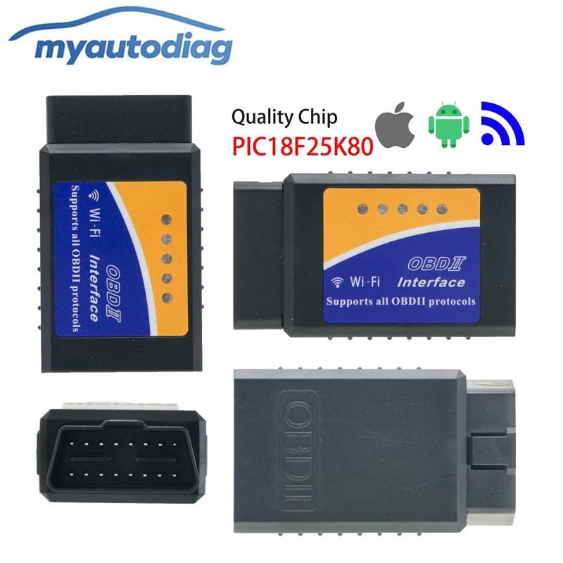 Super Mini ELM327 Wifi Bluetooth V1.5 OBD2 OBDII Lettore di Codice ELM 327 Auto Diagnostico Scanner Tool ELM-per Android iOS telefono