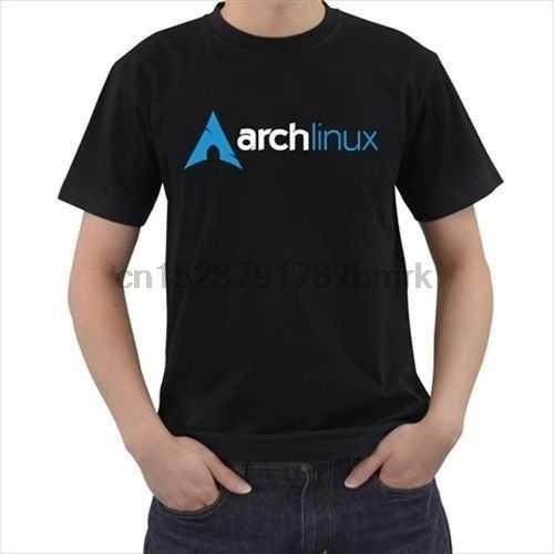 ARCH LINUX Logo hommes T Shirt S M L XL 2XL 3XL manches courtes coton livraison gratuite vêtements T-Shirt col rond vêtements