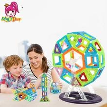 100pcs Mini size Magnetic Building Blocks Construction Magnetic Designer Toys Model Build Kits Toys For Children Magnet Pulling