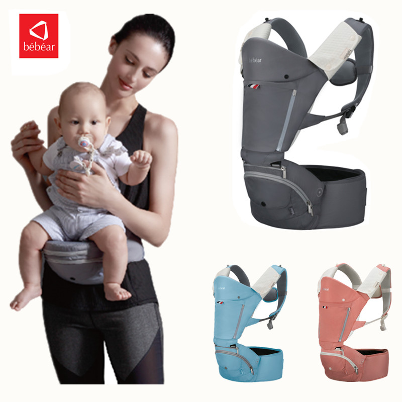 Bebear Ergonomic Baby Carrier AX19 Ergonomics Adjustable Multifunction Breathable Infant Carrier Toddler Sling Wrap Suspenders