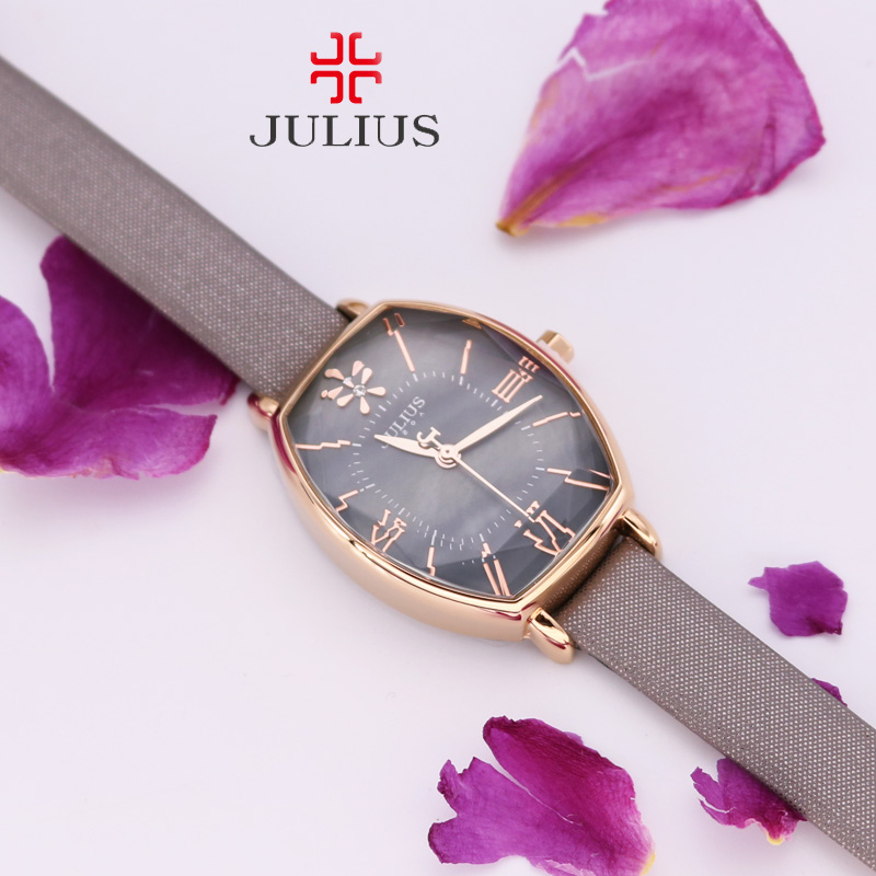Julius Women's Watch Japan Mov't Hours Mother of Pearl Fine Fashion Dress Bracelet Leather Star Cut Girl Birthday Girl Gift threaded nema17 stepper w 460mm tr8 12 leadscrew acme leadscrew threaded rod nema17 stepper motor page 8