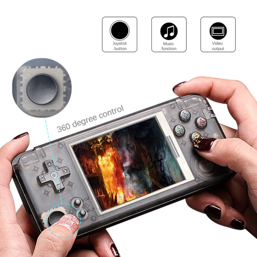 3 inch Full Color Screen Mini Retro Handheld Game Console 64Bit 16GB Built-in 3000 Classic Games Support For NEOGEO/CP1/CP2