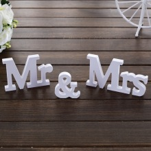 Wedding Decorations Mr & Mrs Mariage Decor Birthday Party Decorations White Letters Wedding Sign 3 pcs/set
