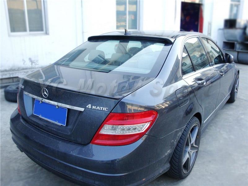 2008-2013 Mercedes Benz W204 C-Class Sedan Coupe AS Style Roof Spoiler CF (19).jpg