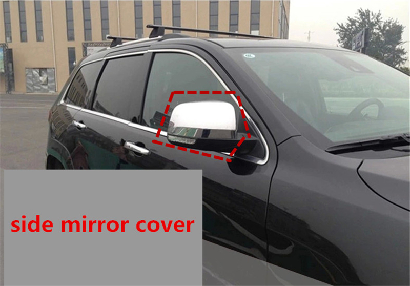 цены  Car styling side mirror cover rearview mirror cover auto accessories for jeep grand Cherokee 2014 2015 2016 abs chrome 2pcs