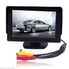 4.3 Дюймов TFT LCD Экран Монитора Автомобиля Автомобиль Обратный Резервный Парковка монитор со СВЕТОДИОДНОЙ подсветкой Дисплея для Автомобиля Камера Заднего вида DVD