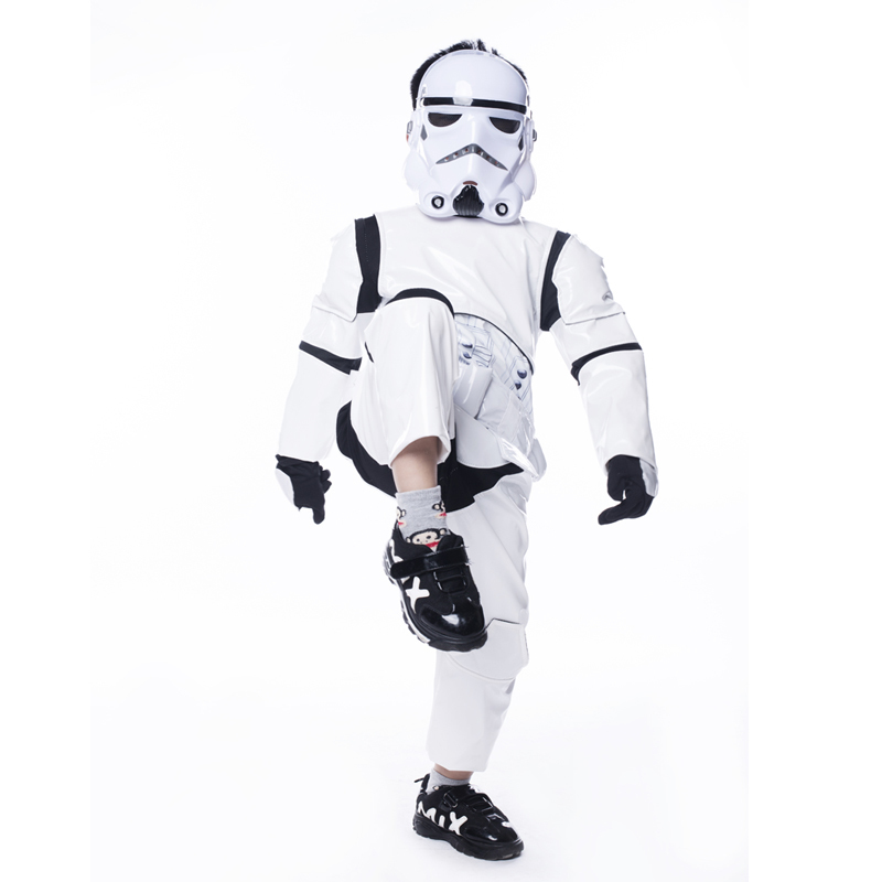 Boy Deluxe Star Wars The Force Awakens Storm Troopers Cosplay Fancy Dress Kids Halloween Carnival Party Costume