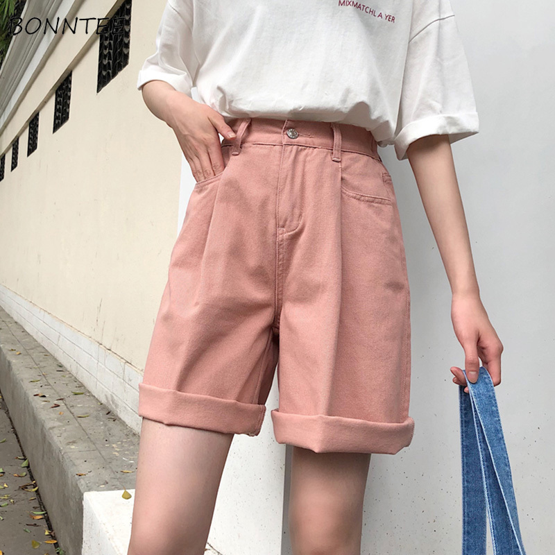Shorts   Women Solid Color High Wide Leg Trendy Harajuku Clothes Womens Summer Elastic Girl Simple All-match   Short   Student Elegant