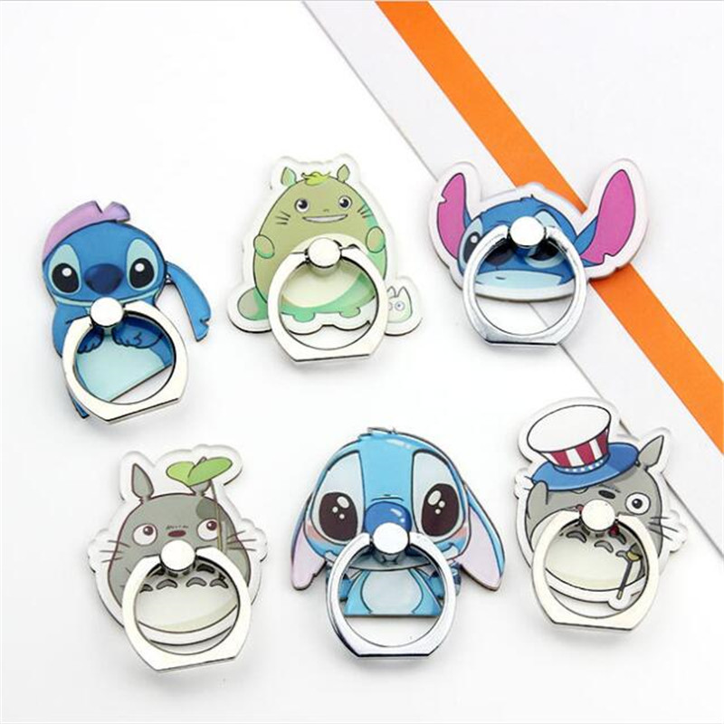 UVR 360 Degree Cartoon Cat Stitc Finger Ring Smartphone Stand Holder Mobile Phone Cute Bear Holder Stand For IPhone All Phone