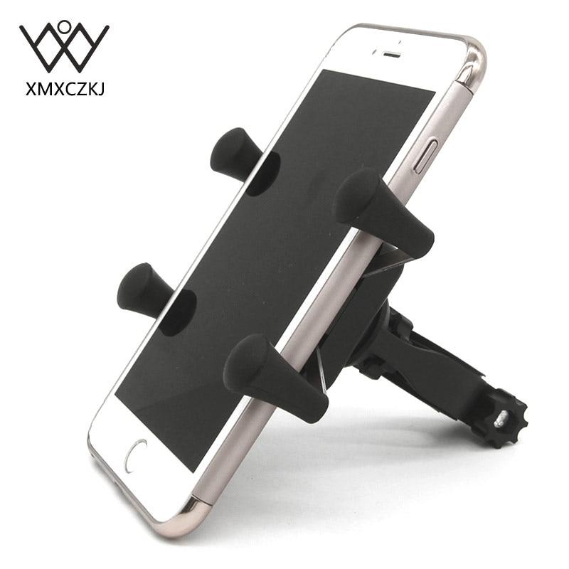 XMXCZKJ Moible Telefono Cellulare X-Grip Morsetto Della Bici Della Bicicletta Supporto Del Telefono Del Basamento di Sostegno Per La Presa di Smartphone Cellulare GPS supporto
