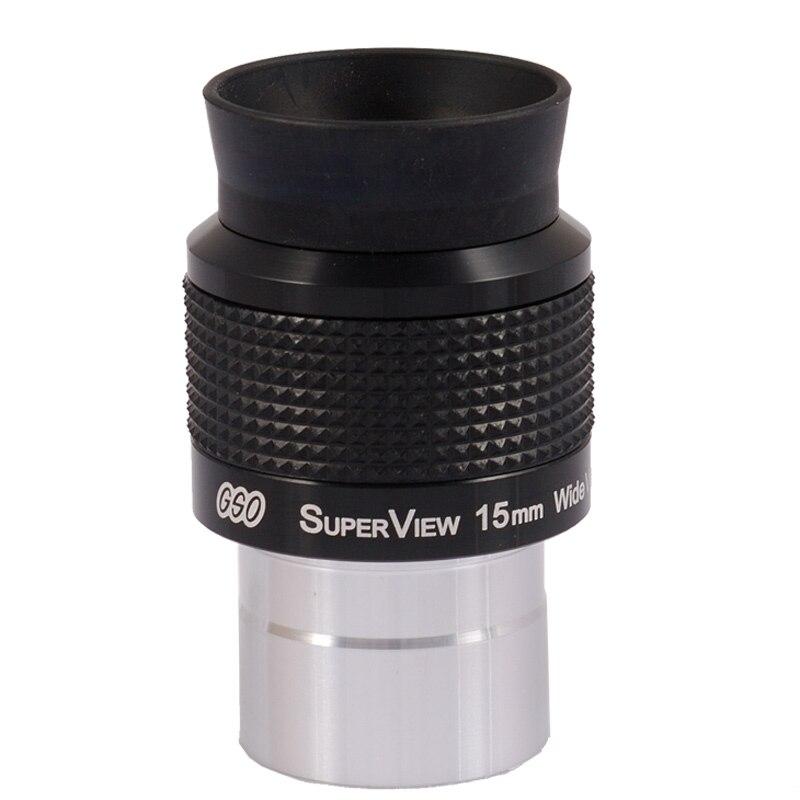 лучшая цена GSO 1.25 inch Superview 15mm Wide Field 68-degree telescope eyepiece